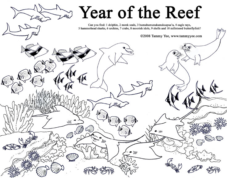 coral reef coloring book pages - photo#29