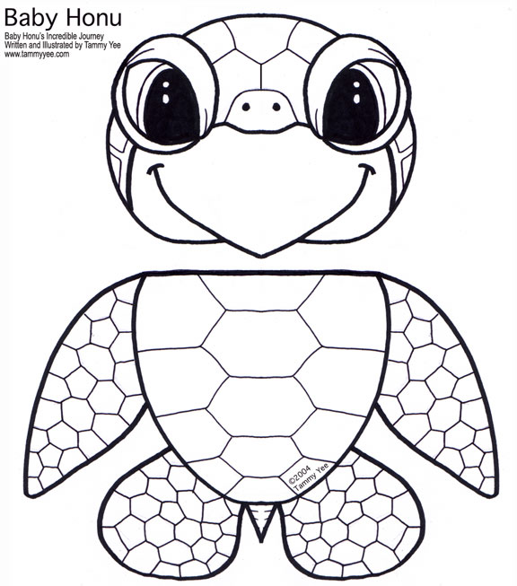 Paper Bag Honu (Green Sea Turtle) Puppet