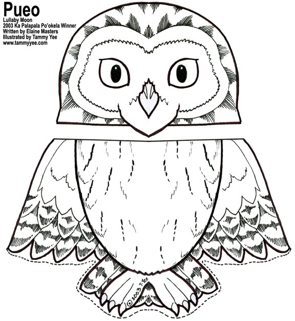 printable templates and directions for making a paper bag owl puppet ...