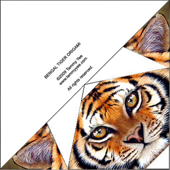 tiger origami instructions